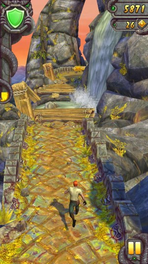 Temple Run 2 waterfall