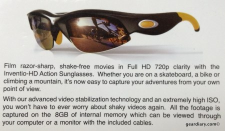 Inventio HD 720P Video Sunglasses