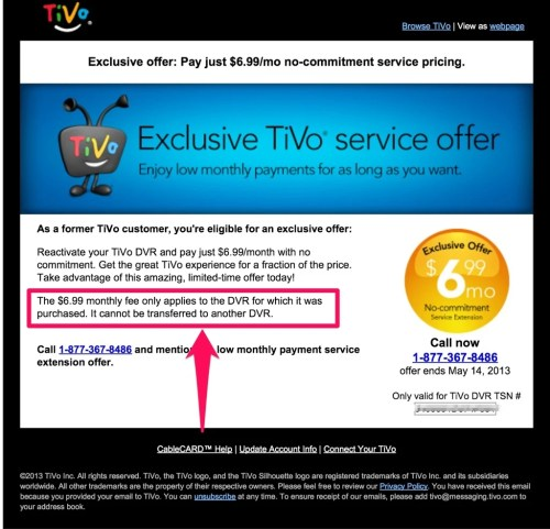 TiVo's Exclusively Terrible Offer