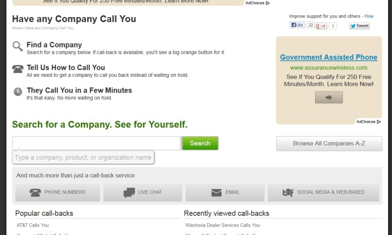 1-Get Human Call Back