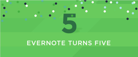Evernote Turns Five-