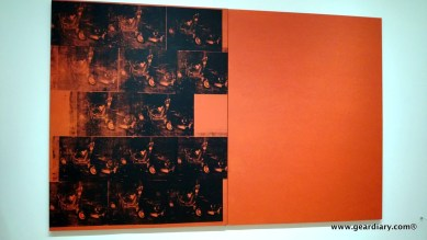One of Andy Warhol's car crash silkscreens; the extra panel was to make it cost more. ;)