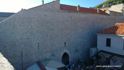 Inside the walled city of Old Town Dubrovnic