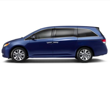 2014 Honda Odyssey Minivan Touring Elite side view