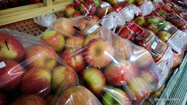 Fresh picked apples at Oasis Eatery at Nesbitt's Orchard in Prescott, Wisconsin