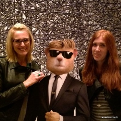 """Helena and I hanging with one of the """"transformed"""" Kia Hamsters"""