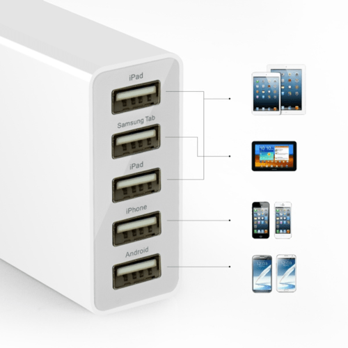 Anker 5V  5A 5 Port Wall Charger