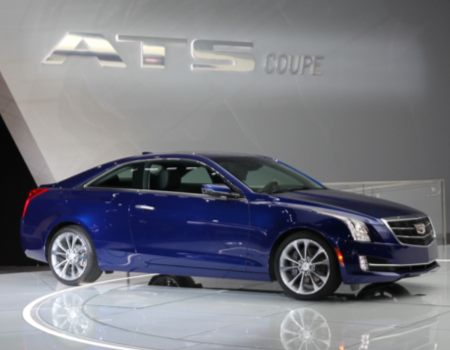Cadillac debuted its new ATS Coupe that also premiered the new Cadillac logo