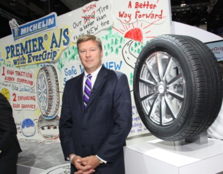 Not all debuts were from automakers; Michelin showed its new Premier A/S tire line