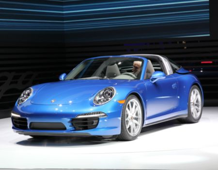 Porsche rolled back the top on the new 911 Targa/Images courtesy NAIAS