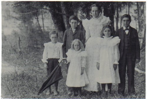 The Wood Children - Diaz Bromfield, William Arthur, Martha Ella, Ashley Elijah, Virginia Rebecca, and Cynthia May