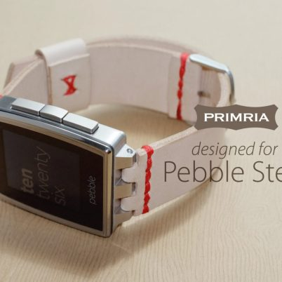 pebble steel strap -- replacement natural leather 1