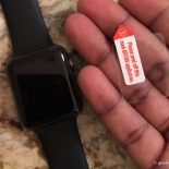 The screen protector versus a naked Apple Watch Screen