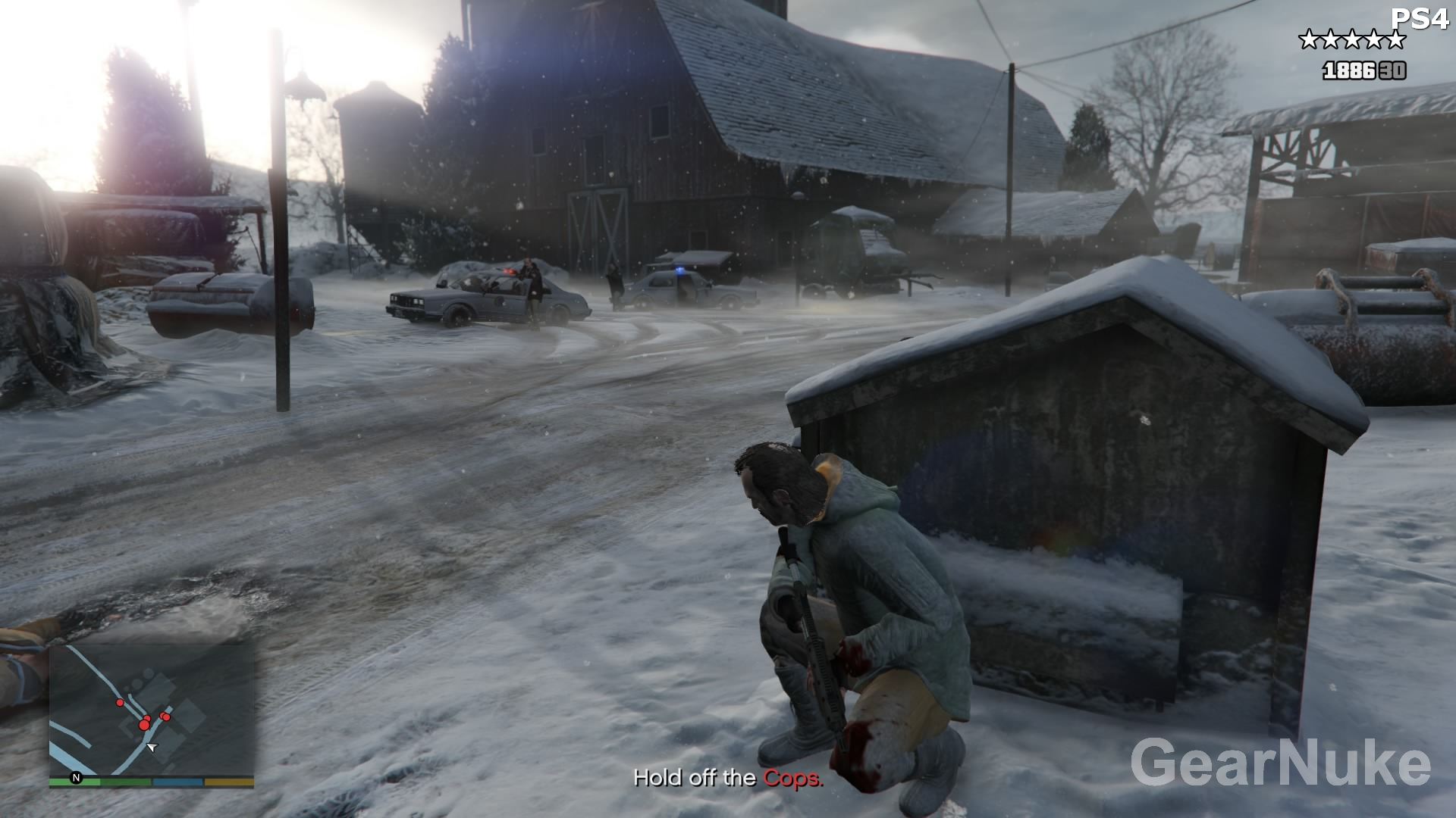 how to change brightness on gta ps4