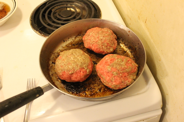 Bacon and Cheese Stuffed Burgers With Homemade Burger Buns