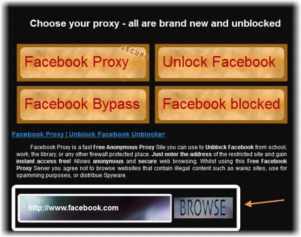 Facebook Proxy