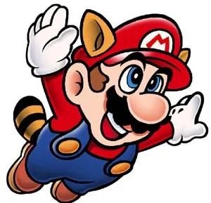 """Mario volando hacia """"internet"""""""