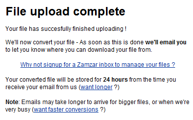 File Upload Complete