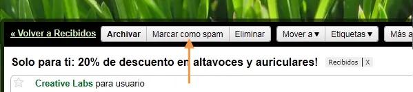 Marcar como spam