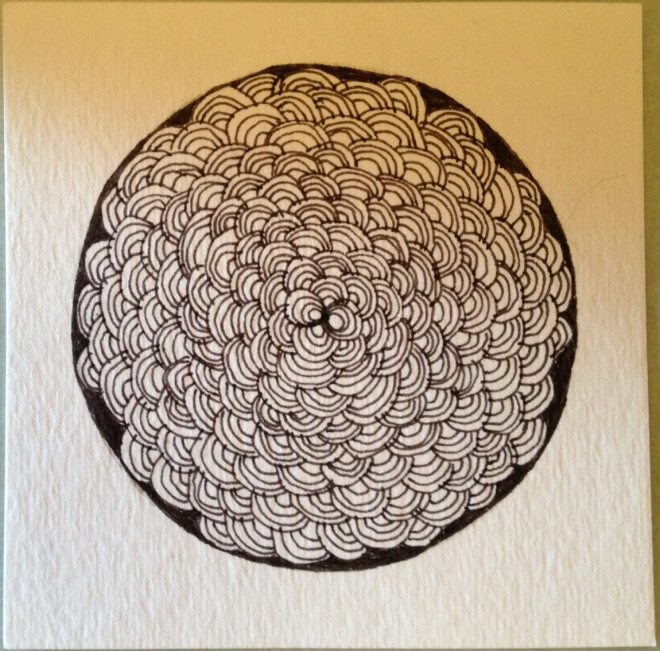 Arc Flower: My very first Zentangle. Photo: Jenny Williams