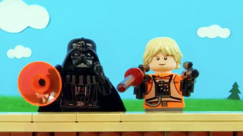 Lego Star Wars Luke and Vader