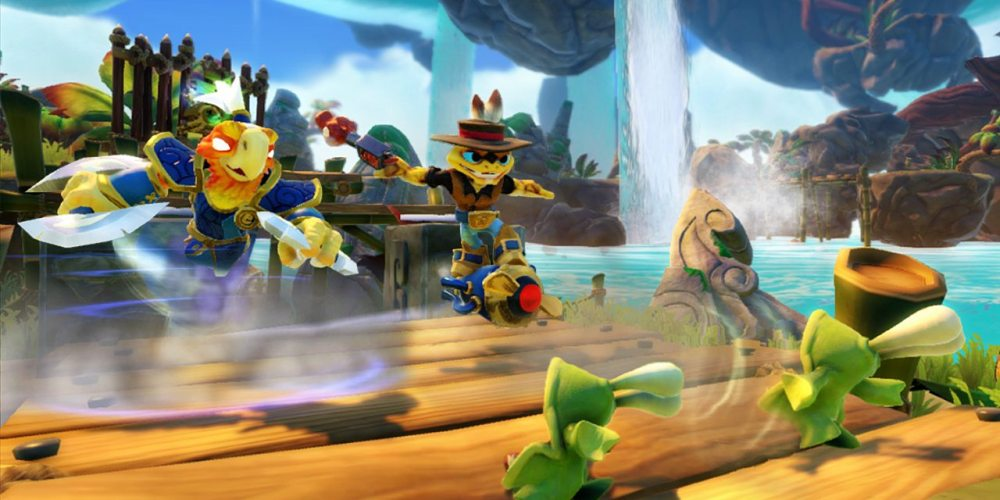 Skylanders SWAP Force_Co-op_Free Ranger Vortex move and Rattle Jet (Rattle Shake_Boom Jet)