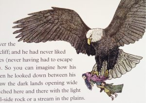 The eagles are coming. From the new illustrated edition of The Hobbit.