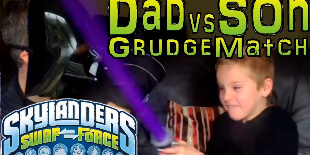 Dad and Son Skylanders Battle