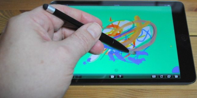 Nomad Mini 2 Portable Paintbrush Stylus in action.