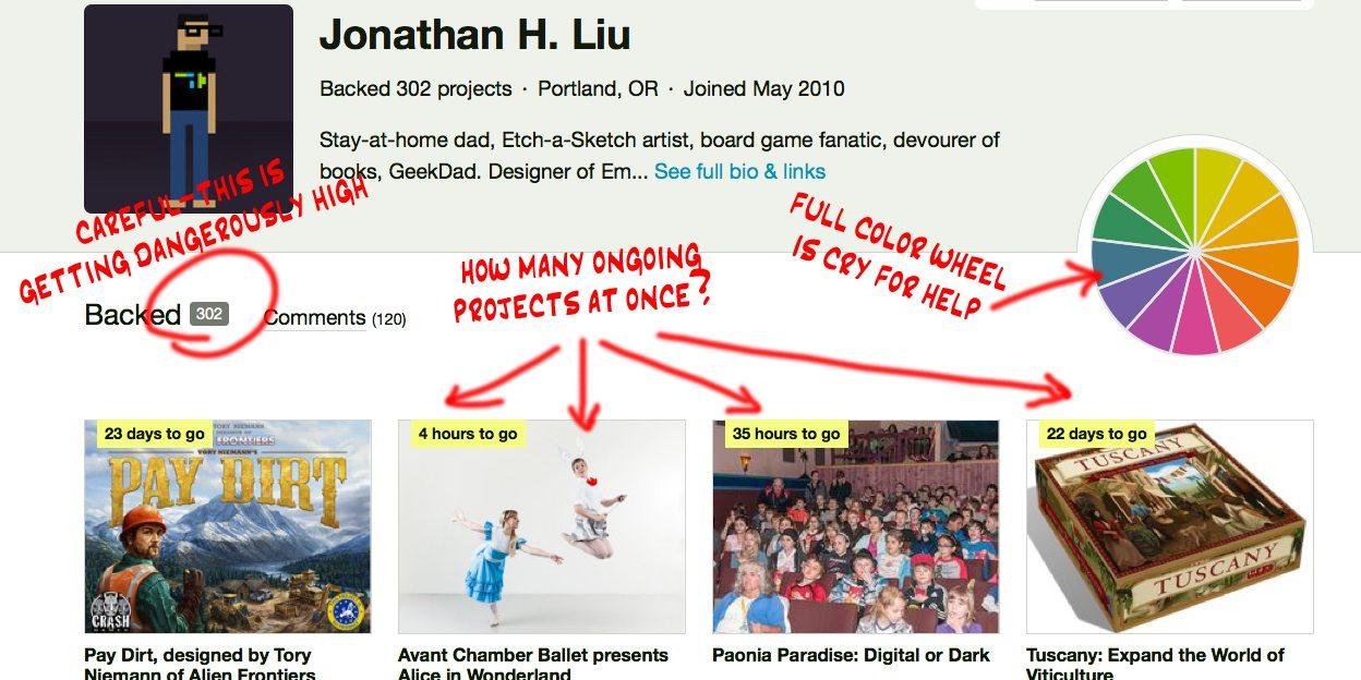 Kickstarter profile
