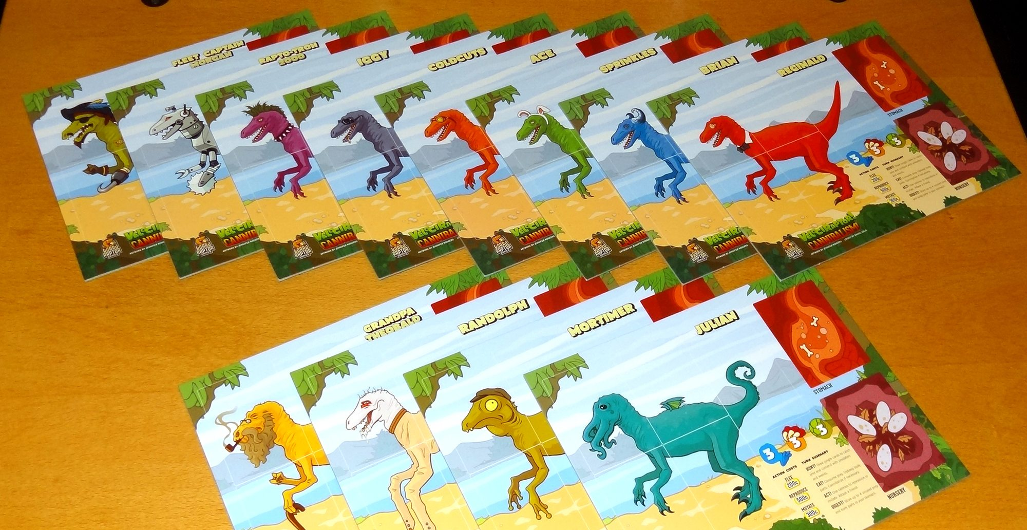 Velociraptor! Cannibalism! player mats