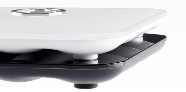 The FitBit Aria smart scale in black or white
