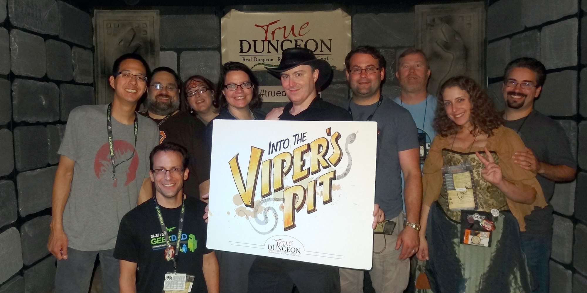 True Dungeon group photo