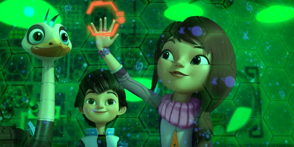 """MILES FROM TOMORROWLAND - """"The Discovery Expedition"""" - Loretta uses her coding skills to discover a hidden planet. This episode of """"Miles From Tomorrowland"""" premieres Friday, December 4 (10:30 AM - 11:00 AM ET/PT) on Disney Junior. (Disney Junior) MERC, MILES, LORETTA"""