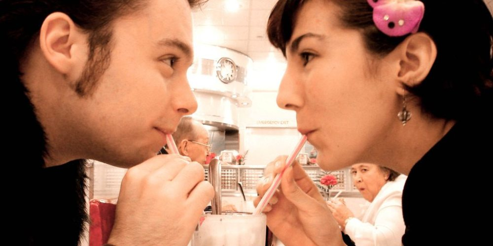 """""""Young Love at the Malt Shop"""" by Kevin Simpson. Used under Creative Commons license."""