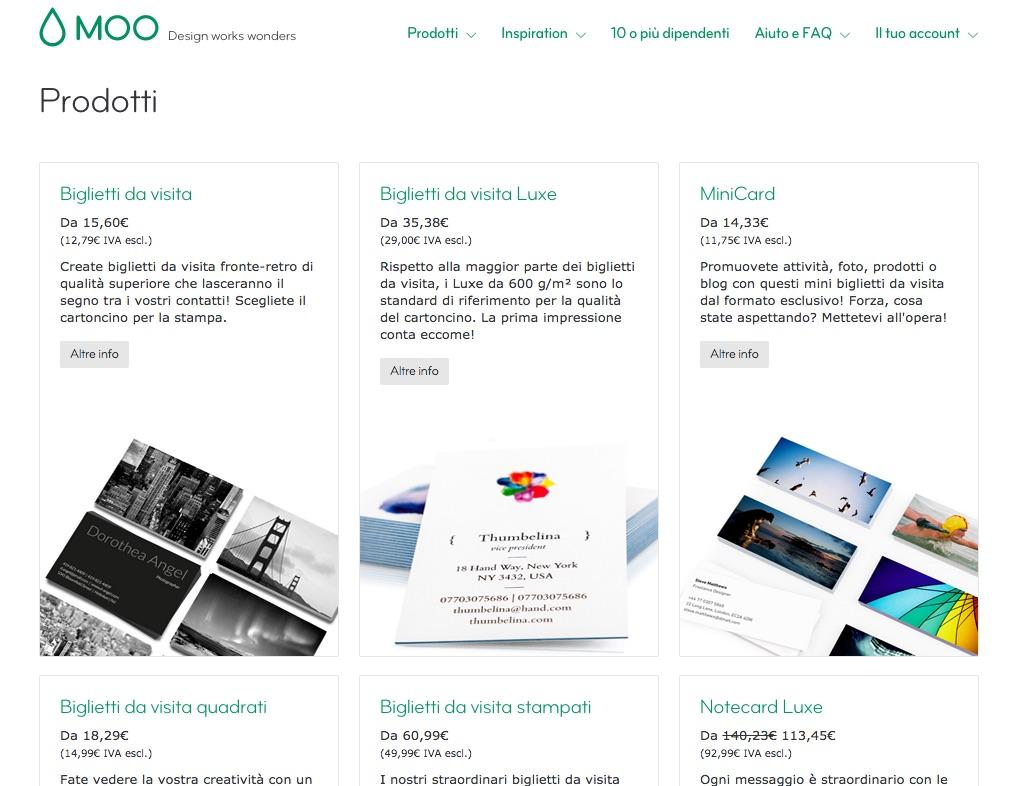 Come creare online bellissimi biglietti da visita for Biglietti da visita online