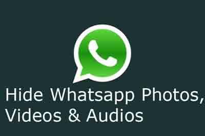 hide whatsapp images & videos