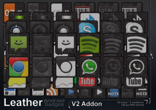 Leather Android Icons