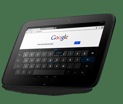 Nexus 10 tablet