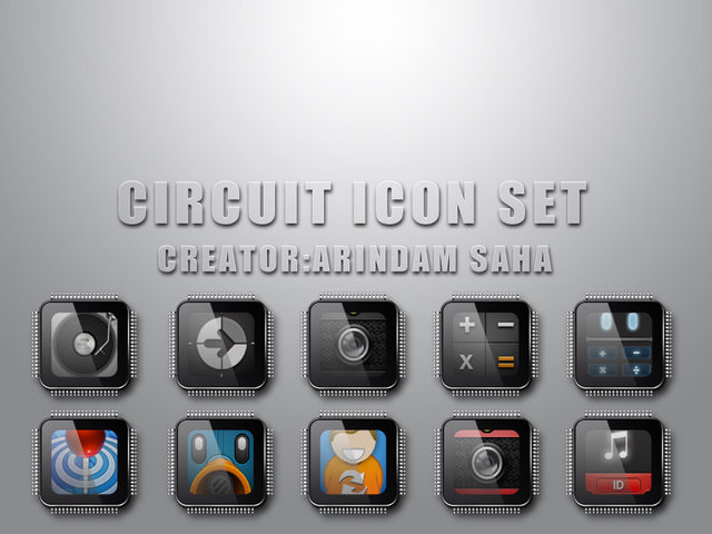 circuit android icon pack