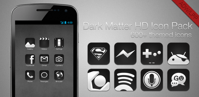 dark matter icon pack