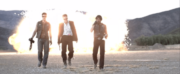 Hell Ride - Cool guys walking away from explosions