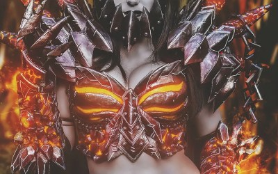 Jessica Nigri was Deathwing at Blizzcon 2015