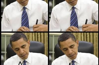 Negocios: Zuckerberg a la derecha y Jobs a la iquierda del Presidente Obama