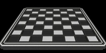 Juego de ajedrez un poco caro, armado con Legos