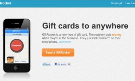 GiftRocket, llegan las tarjetas de regalo geolocalizadas