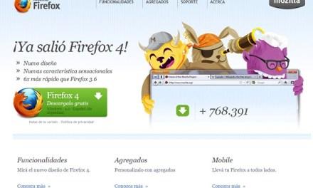 Y llegó no más el Firefox 4 con las versiones en distintos idiomas.