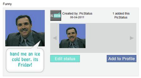 PicStatus, agrega una frase a tu foto de tu perfil de Facebook