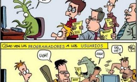 #Humor gráfico: Cómo se ven los usuarios y los programadores entre si