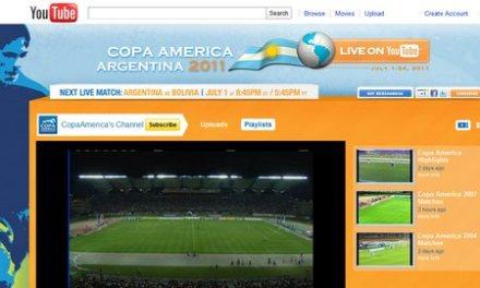 Youtube transmitirá en directo los partidos de la copa América